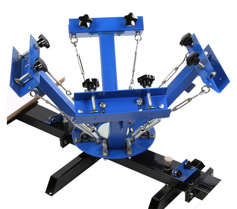 manual screen printing machine 4 color 1 station for T shirt printing