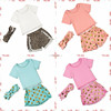 Fancy children girl's pompom short pettiset , boutique baby girls pompom polk dots summer set outfits children cloth