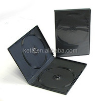 Wholesale Cheap 14mm Plastic Box Double Black Long DVD Case