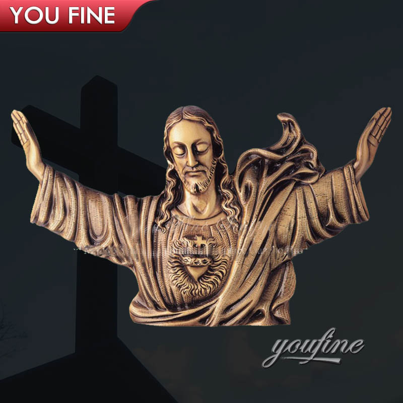 Church Rise Bronze Jesus Relief Wall Sculpture