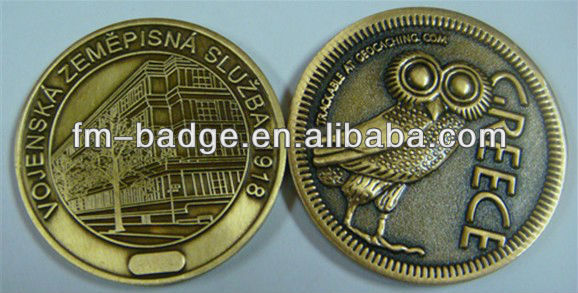 brass animal double sided challenge military coin