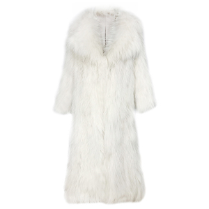 wholesale Real Natural Knitted Raccoon Fur Coat Long Ladies Winter Warm Coat