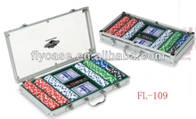 Aluminum durable popular everywhere poker chip set with roulette made in China