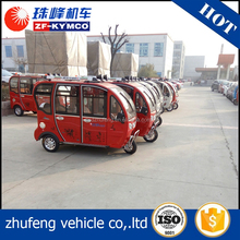 Big power electric three wheel tricycle cabin motorcycle