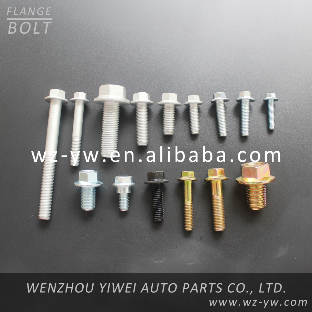 DIN6923 hex flange head bolts and nuts