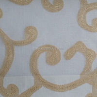 Hotel curtain fabric luxury embroidered drapery fabrics