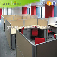 China gold manufacturer hot selling l shape office work partition