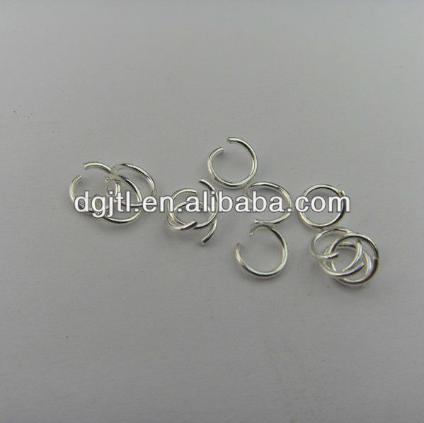 Fashion metal high quality silver plated jump rings