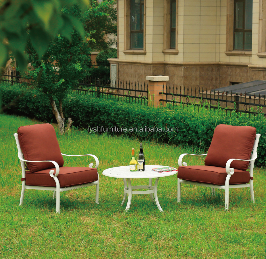 Cast Aluminum Outdoor Furniture Set Dining Set Patio Round Coffee