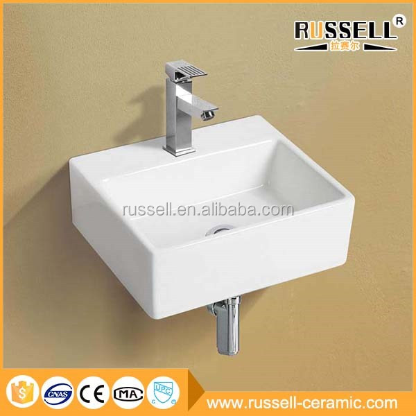 Modern design cheap bathroom white art ceramic wall hung basin