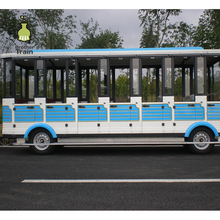 Diesel electric used railway coach trackless train for sale