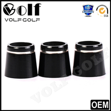 Single Silver Ring Solid Black Golf Ferrule for Driver Fairway Woods Graphite Shaft and Iron Shaft