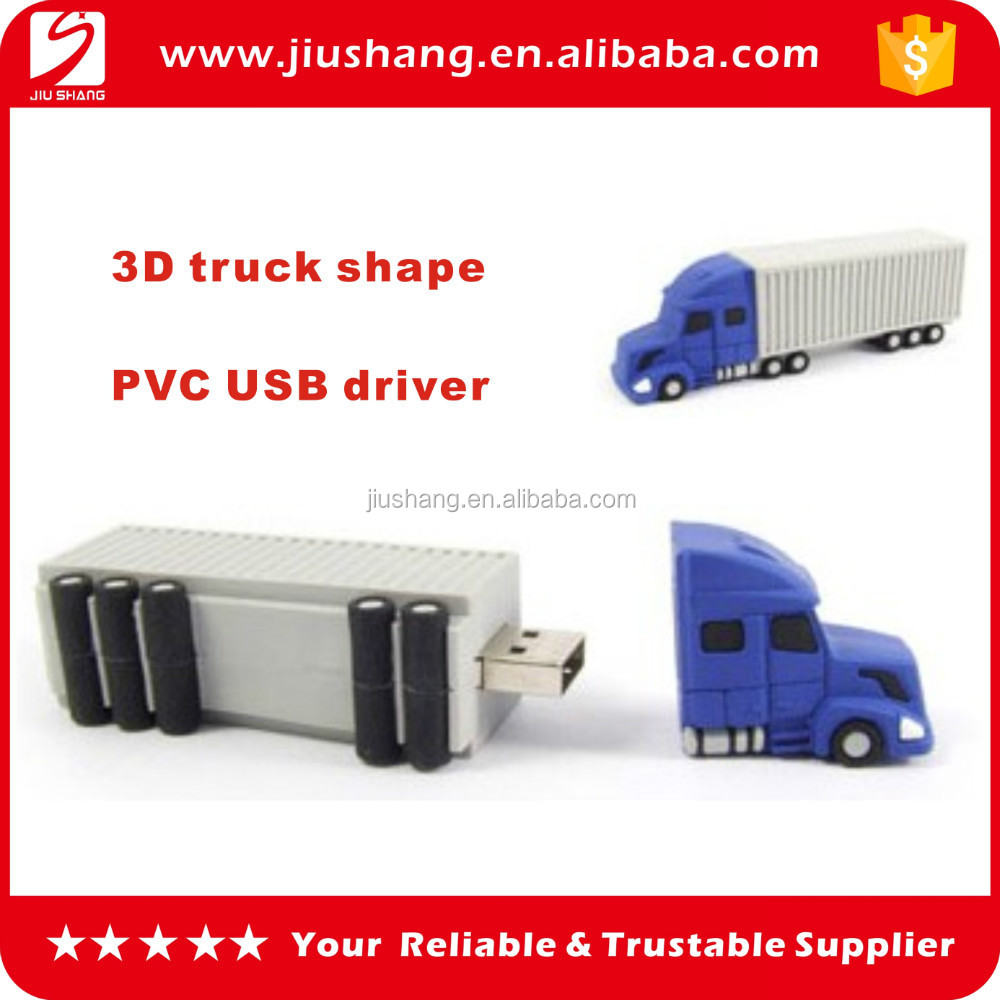3D truck shape pvc USB flash drives