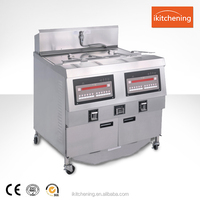With Thermostat Control Valve Fried Chips Gas Open Fryer