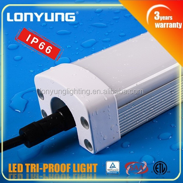 High quality led tri proof light, high power led tri proof lamp 3 years warranty