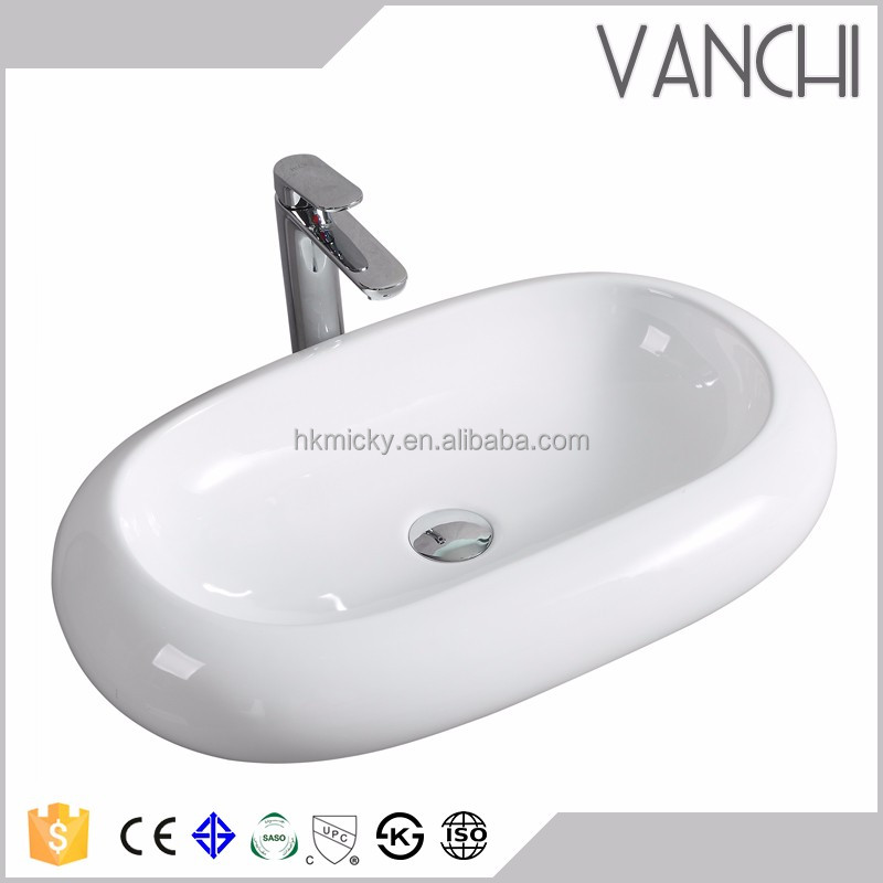 shallow basin industrial hand wash basin above counter sinks vanity basin oval Vessel Sink