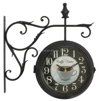 leaf design for coffee shop wall decorative clock