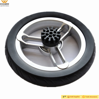 12x2 plastic eva foam baby stroller wheels with quick release