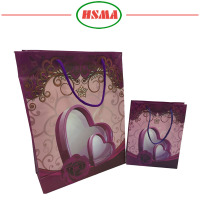 Factory best seller amaranth gift bag small jewelry pouch gift bag shopping packaging gift bag