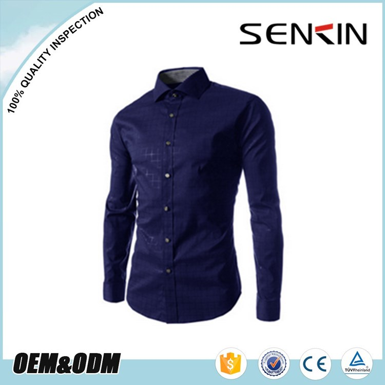 OEM Factory Male Long Sleeve Dress Shirt Unique Dress Shirt