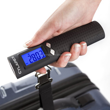 High quality built in power bank 2600mah digital weighing portable travel luggage scale with flashlight