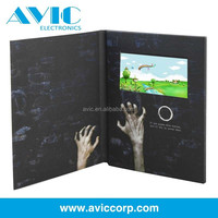 New design best selling lcd screen video in print technology video brochure /custom different inch advertising player video card