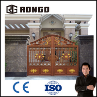 RONGO aluminum villa gate designs/sliding iron main gate design