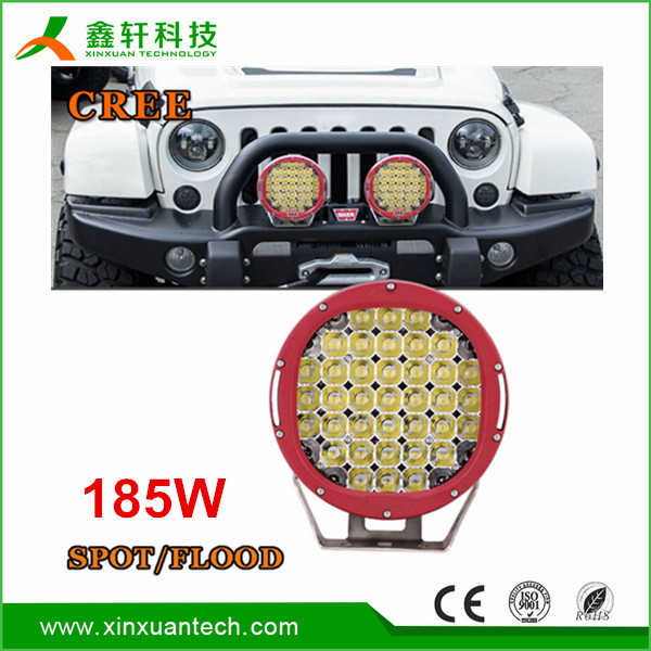 9inch 185w led work light round spot high power led driving light for 4x4 Off-road SUV