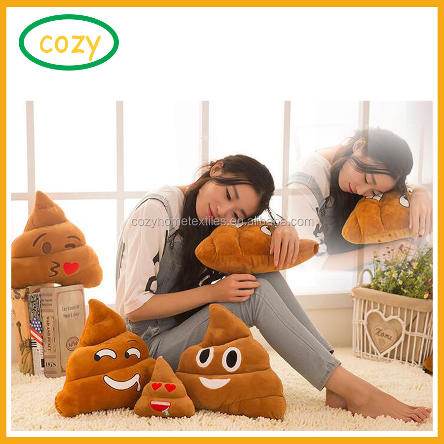 2017 Emoji Emoticon Cushion Poo Shape Pillow Doll Toy Throw Pillow in 15cm and 30cm poo emoji pillow