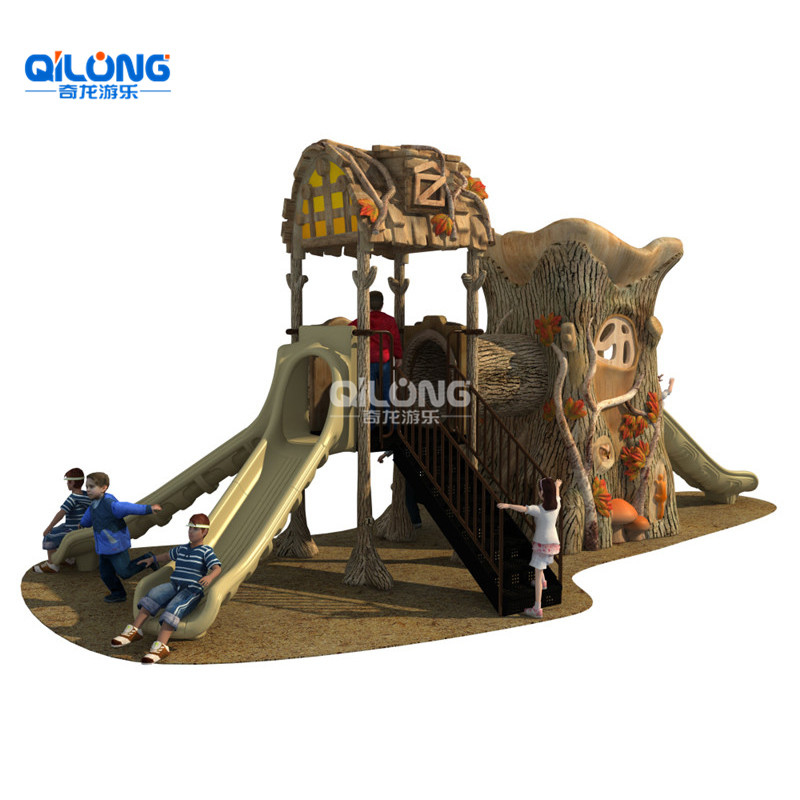 Small Modern Children Park Toys Children Outdoor Playground With Big Slides