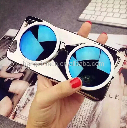 2015 Newest Luxury 3D candy Color Sunglasses Hard PC Mirror Electroplated PhoneCover Case For iphone6s,6s plus,6,6plus
