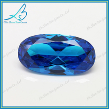 Wuzhou factory long-term supply oval clear aquamarine glass stone