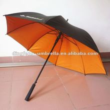 Color gel pongee uv protection straight umbrella for sale