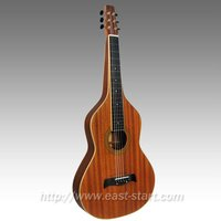 All Solid Acoustc Lap Steel Slide Hollow Neck Guitar / Chinese Weissenborn Guitar