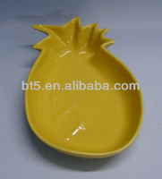 stoneware pineapple design dishes plates