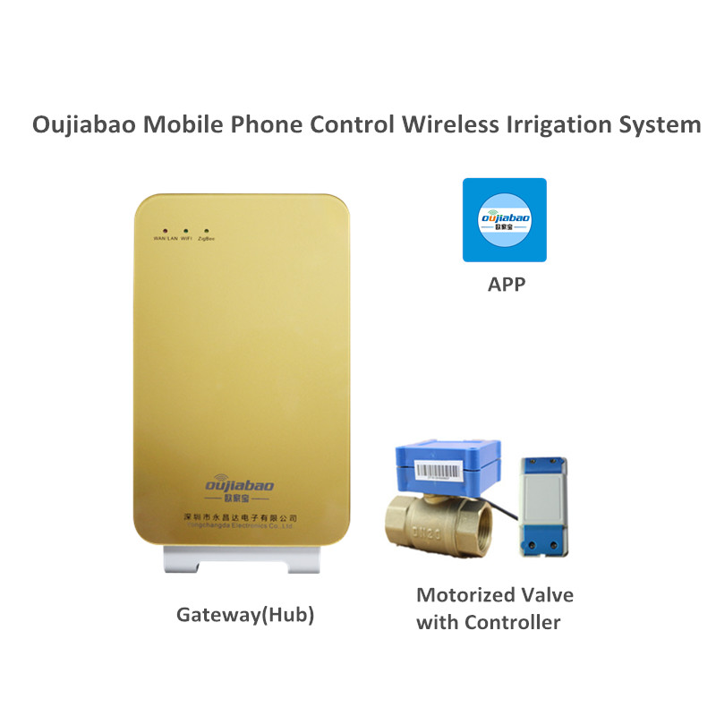 Oujiabao Mobile Phone Control Wireless Irrigation System