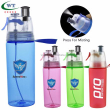 Promotional 500ML Spray ice Tube Water Bottle With Misting Spray