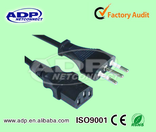 High speed European CE ROHS material male to male AC Power Cord/Line