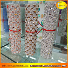 Yiwu Iron on Wholesale Hot fix Diamond Crystal Rhinestone Mesh Trim Sheet Pujiang Factory