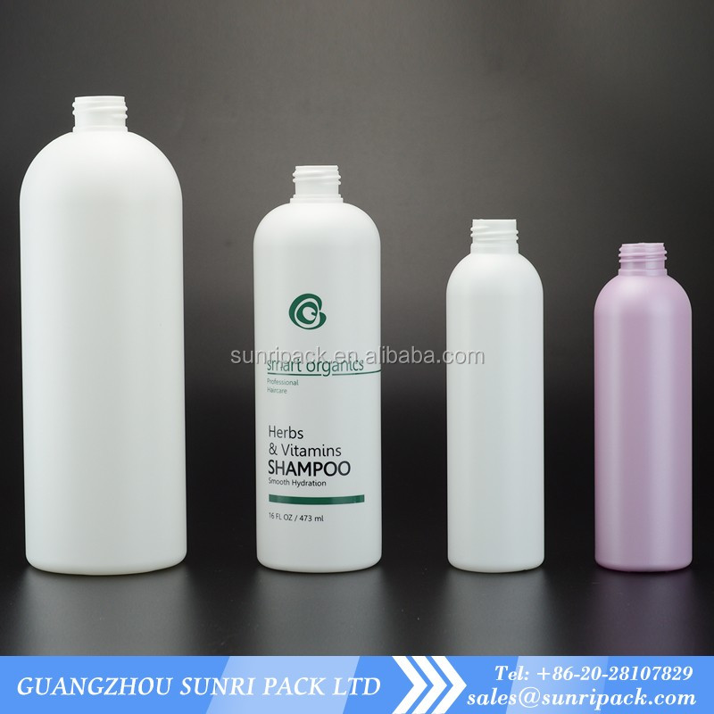 200ml 250ml 500ml 1L white cosmo round HDPE Plastic bottle