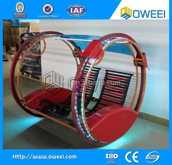 wonderful top fun 2 Wheel amusement park le bar car/happy car