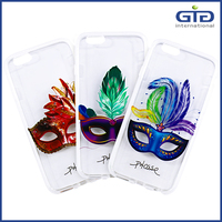 [NP-2545] 2016 New Arrival Colored Drawing Luminous Masque Smartphone Shell For iPhone 6 Mask Case Covers TPU