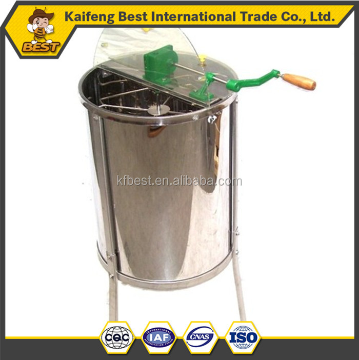 Stainless steel 4 frames honey extractor