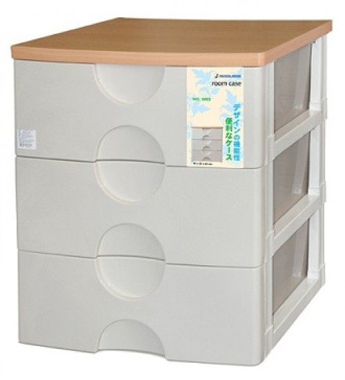 Wooden-top 3 Tiers Plastic Drawers - Very Strong - Hot Sale