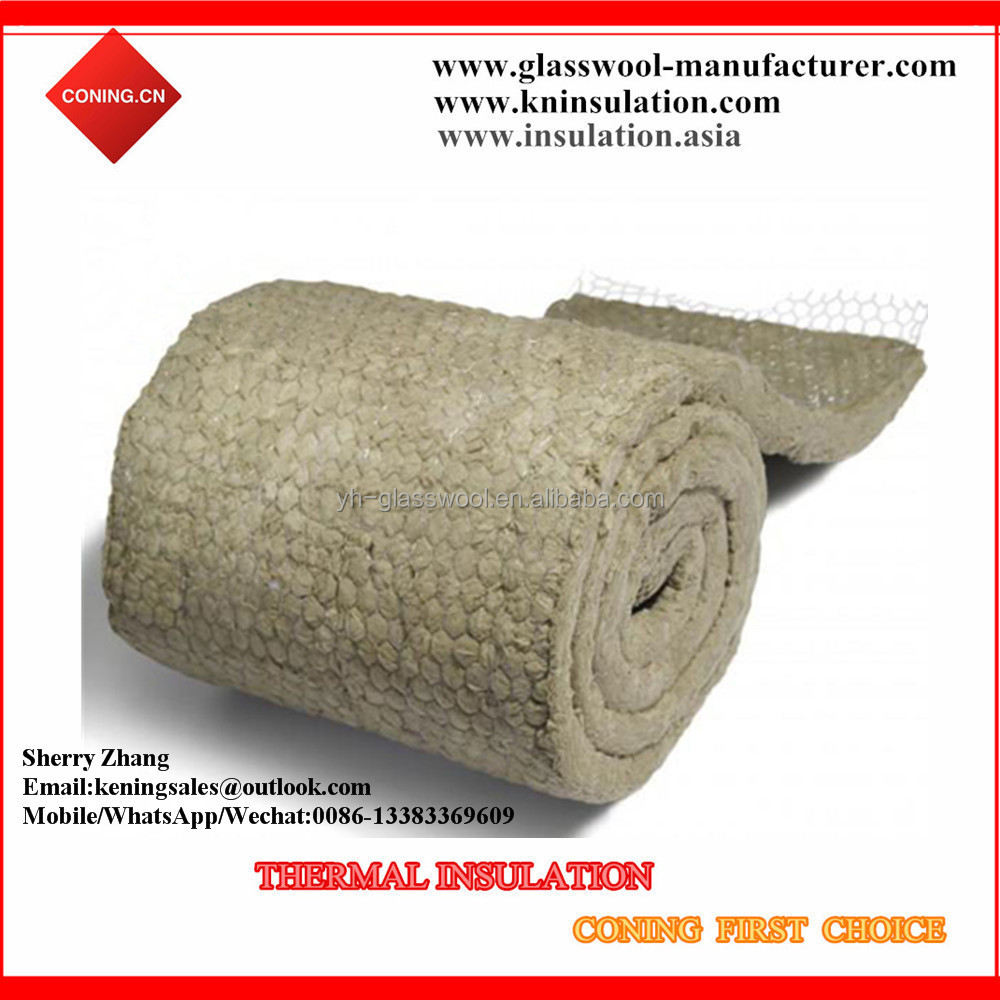 Wire Mesh Mineral Rock Wool Blanket