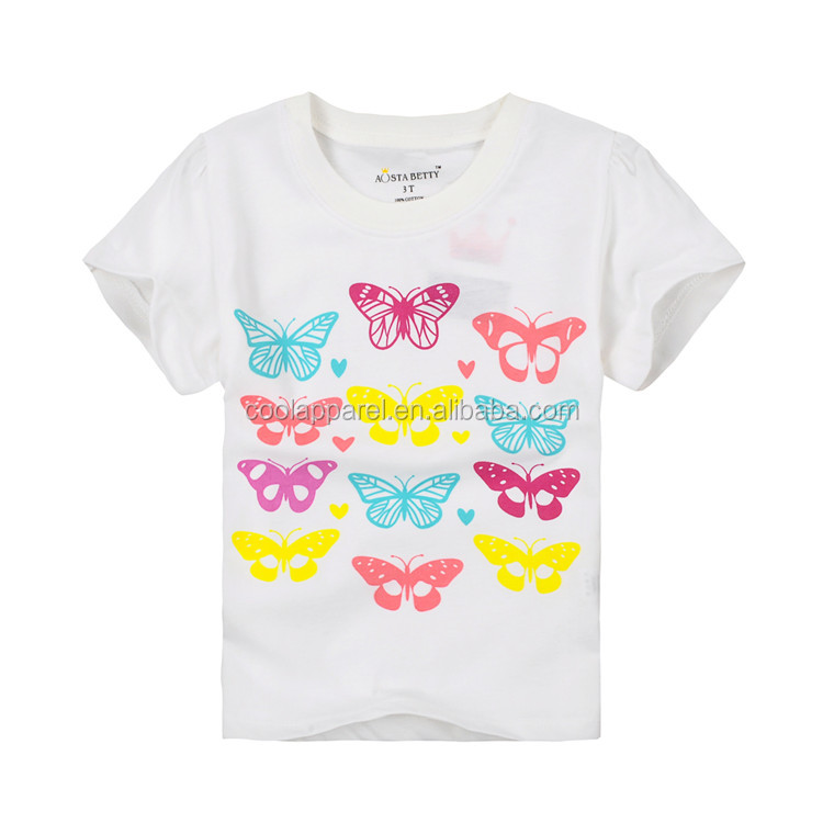 lovely 2016 cotton white kids tshirts in girls't-shirts