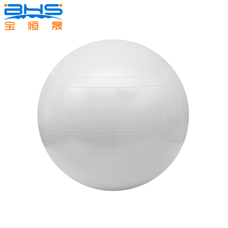 Bouncing on exercise ball , gym ball 55cm