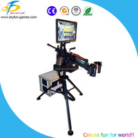 Shooting game console in coin operated game machine lottery game machine