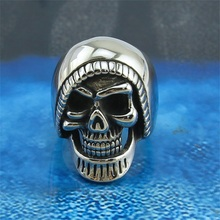 Death skull casting jewelry ring cheap wholesale men stainless steel ring