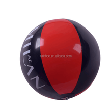 Fashion phthalate free logo printed inflatable pvc big beach ball with high quality